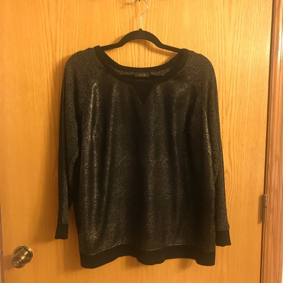 Apartment 9 chrome sweater 0X from A dozen\'s closet on Poshmark